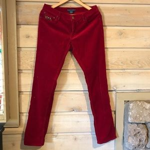 Ralph Lauren Polo Match Skinny Slim Corduroy Pants